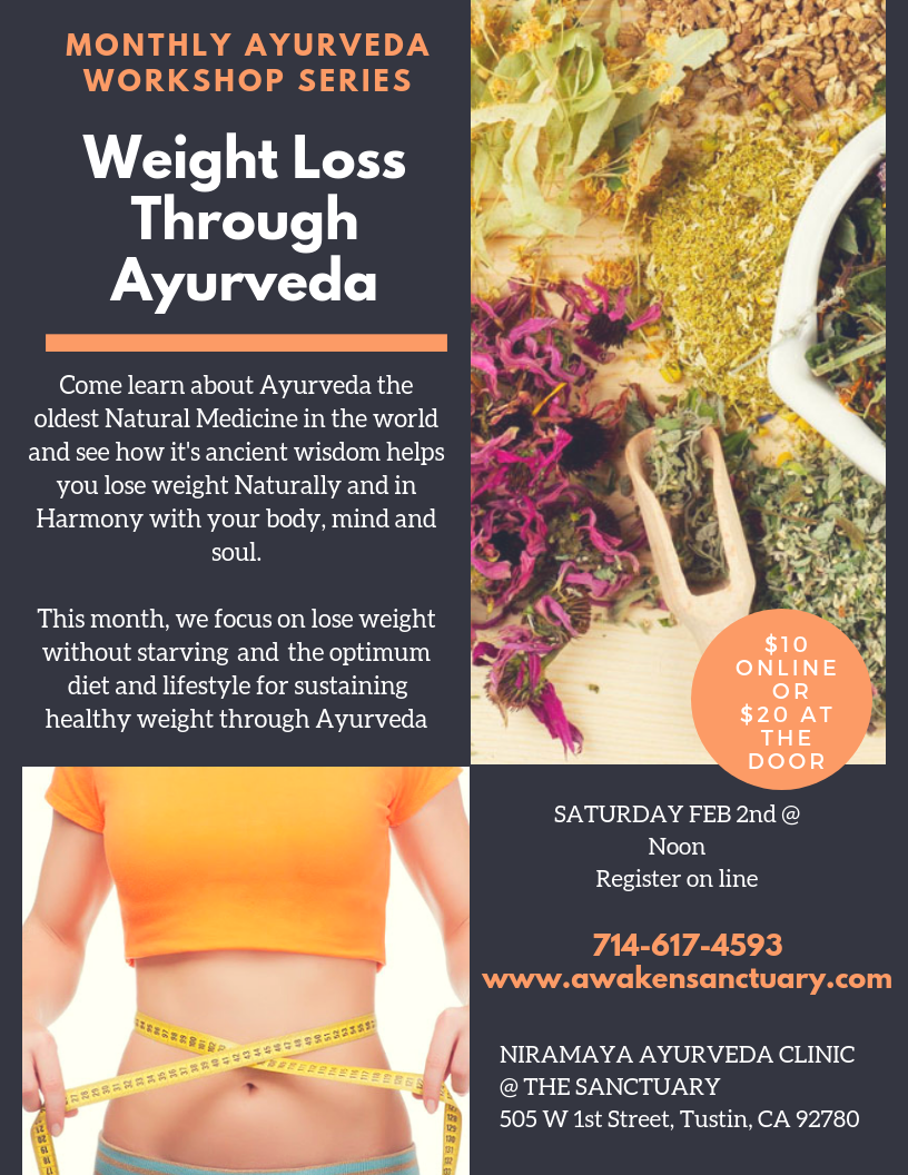 Weight Loss Through Ayurveda | At The Sanctuary Yoga Studio